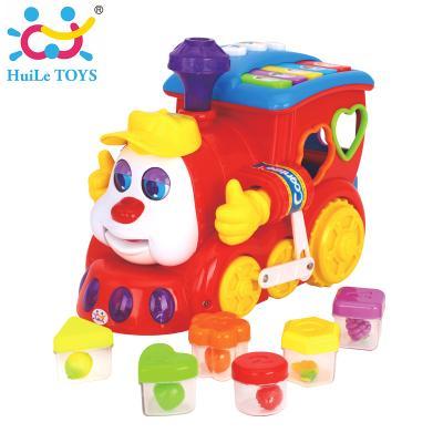 Huile Toys - รถไฟของเล่นเด็ก Smart Q & A Cartoon Train