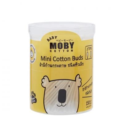 Baby Moby คอตตอนบัตก้านกระดาษหัวเล็ก Mini Cotton Buds