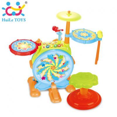 Huile Toys - กลองชุดของเล่นเด็ก Melodious Jazz Drum