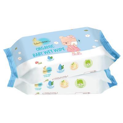 Lamoon ผ้าทำความสะอาดผิวเด็กแบบเปียก 80 แผ่น * 2 ห่อ Lamoon Baby Wet Wipe