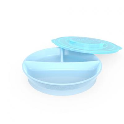 Twistshake - จานหลุมพร้อมฝาปิด Divided Plate