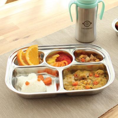 ถาดอาหารสแตนเลส 5 ช่อง Grosmimi Baby Food Tray