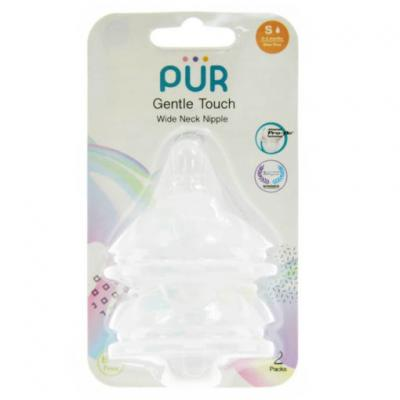 PUR จุกนม รุ่น Gentle Touch คอกว้าง ขนาดเล็ก สำหรับเด็กแรกเกิด แพ็ค 2 ชิ้น