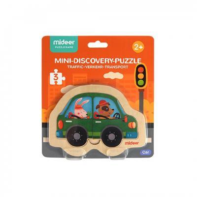 Mideer จิ๊กซอว์ไม้เล็ก - ลายรถ Mini Discovery Puzzle
