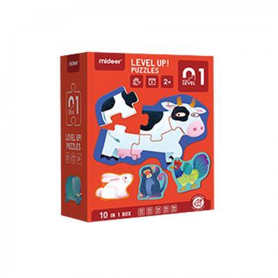 Mideer จิ๊กซอว์สำหรับน้องเล็กขั้น 1 Advanced Puzzle Step1