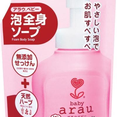 Arau สบู่โฟมอาบน้ำ อะราอุ เบบี้ แบบถุงเติม 400 มิลลิลิตร