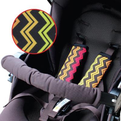 นวมหุ้มสายเบลท์ Stroller Strap Cover - Prince & Princess