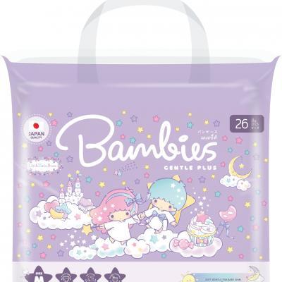 Bambies ผ้าอ้อมสำเร็จรูปเด็ก ไซส์ M (แพคเล็ก)