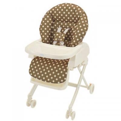 เก้าอี้ทานข้าว Aprica รุ่น High Low Bed Chair Polka Dot