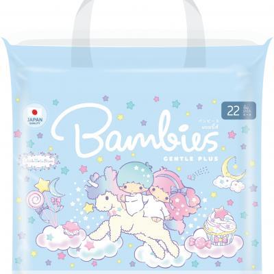 Bambies ผ้าอ้อมสำเร็จรูปเด็ก ไซส์ L (แพคเล็ก)