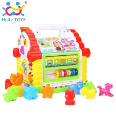 Huile Toys - กล่องบ้านกิจกรรมพร้อมคีบอร์ด Funny Cottage