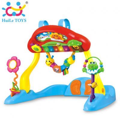 Huile Toys - เพลย์ยิมพร้อมเปียโนของเล่นเด็ก Intelligent Multifunctional Fitness Piano