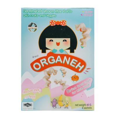Organeh พัฟฟ์ข้าวกล้องงอก ผสมผักผลไม้