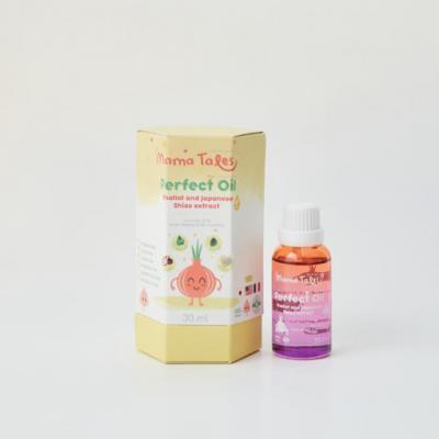 Mama Tales Perfect Oil น้ำมันหอมระเหยบริสุทธิ์จากสารสกัดธรรมชาติและออร์แกนิค ขนาด 30 ml. (ลด 25% 1-30 ก.ย. 64)