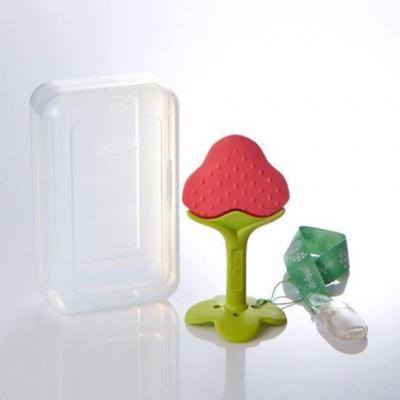Ange ยางกัดสตอเบอรี่รุ่นพิเศษ (พร้อมกล่องเก็บ และคลิปกันหล่นแบบคละสี)