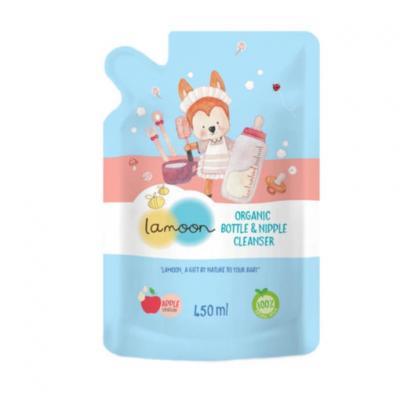 Lamoon น้ำยาล้างขวดนม ออร์แกนิค 450 มล. (แบบรีฟิว) Lamoon Bottle Cleanser (refill) 450ml (สมาชิกลด 10% 1-30 ก.ย. 64)