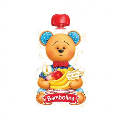 Bambolina แอปเปิ้ลและกล้วยบด 90 กรัม (ซื้อ 6 ชิ้น แถมฟรี 1 ชิ้น 1-30 ก.ย. 64)