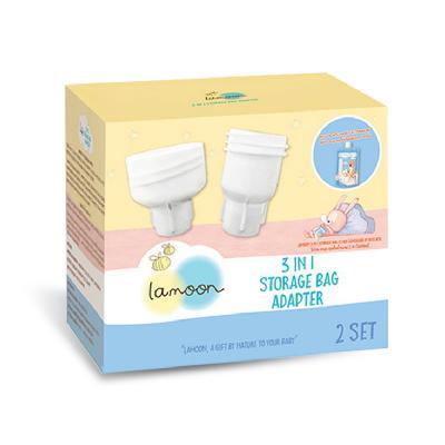 Lamoon ข้อต่อถุงเก็บน้ำนม (Adapter) 4 ชิ้น/กล่อง (สมาชิกลด 10% 1-30 ก.ย. 64)
